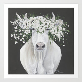 Holli Huyser pearl white cow