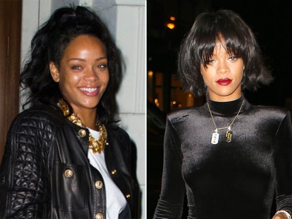Rihanna showed off a new hairstyle