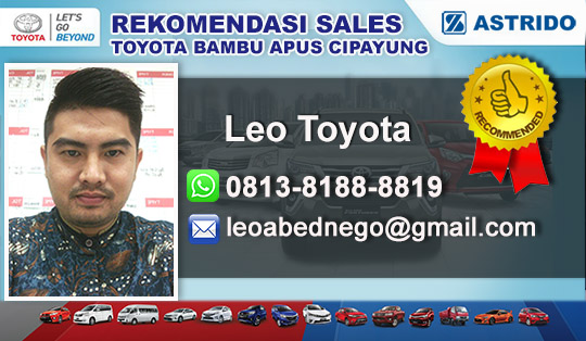 Rekomendasi Sales Toyota Bambu Apus Cipayung