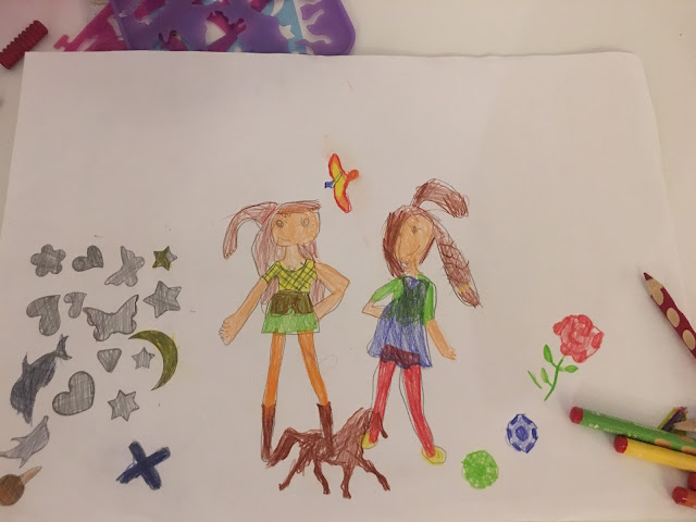 Sasha's picture of two teenage girls