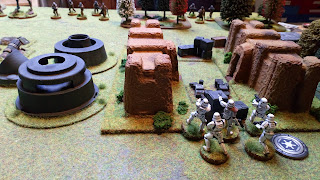 Stormtroopers take positions in the defences