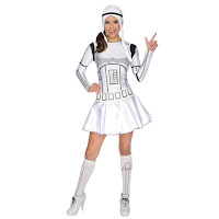 COSTUM SOLDAT STAR WARS CLONE TROOPER DAMA