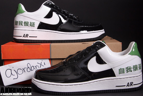 uk availability 65761 ed89d Nike Air Force 1 Low Black White-Tomatillo (2005)