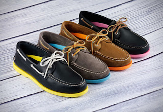 Port View Mahogany Leather Boat Shoes image