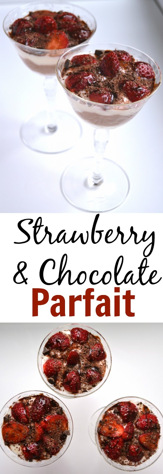 These strawberry and Chocolate Parfaits are sure to wow your loved ones and only take 10 minutes to make and is healthier than many desserts! www.nutritionistreviews.com