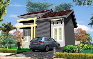 Rumah minimalis sederhana type 21 dengan taman