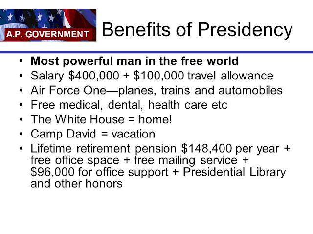 Benefits of United States Presidency