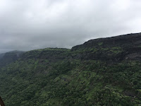 A monsoon scene from Malshej Ghat, Maharashtra