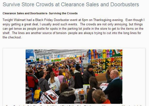 How to Survive Store Crowds at Doorbusters