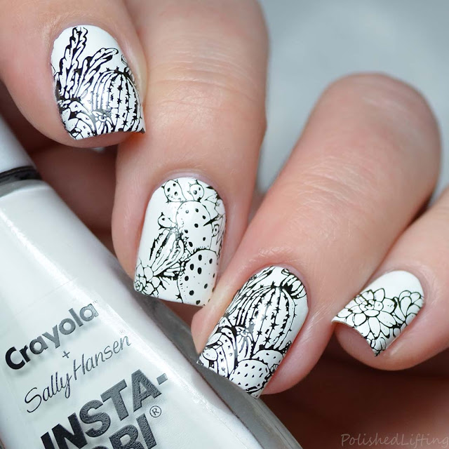 cactus and succulent nail art