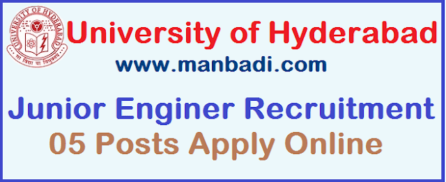 Latest, University of Hyderabad, Junior Engineer, Civil, Elecrical, University of Hyderabad Recruitment, TG State, Recruitment