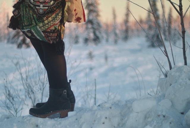 2adb883caa0e Free People Dress and Bag (ebay) Helmut Lang Coat (ebay) Scarf  (consignment) Manhattan Clog Boots for Women c o Sandgrens