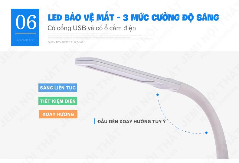 bàn học thông minh cho bé có đèn led bảo vệ mắt tốt hơn