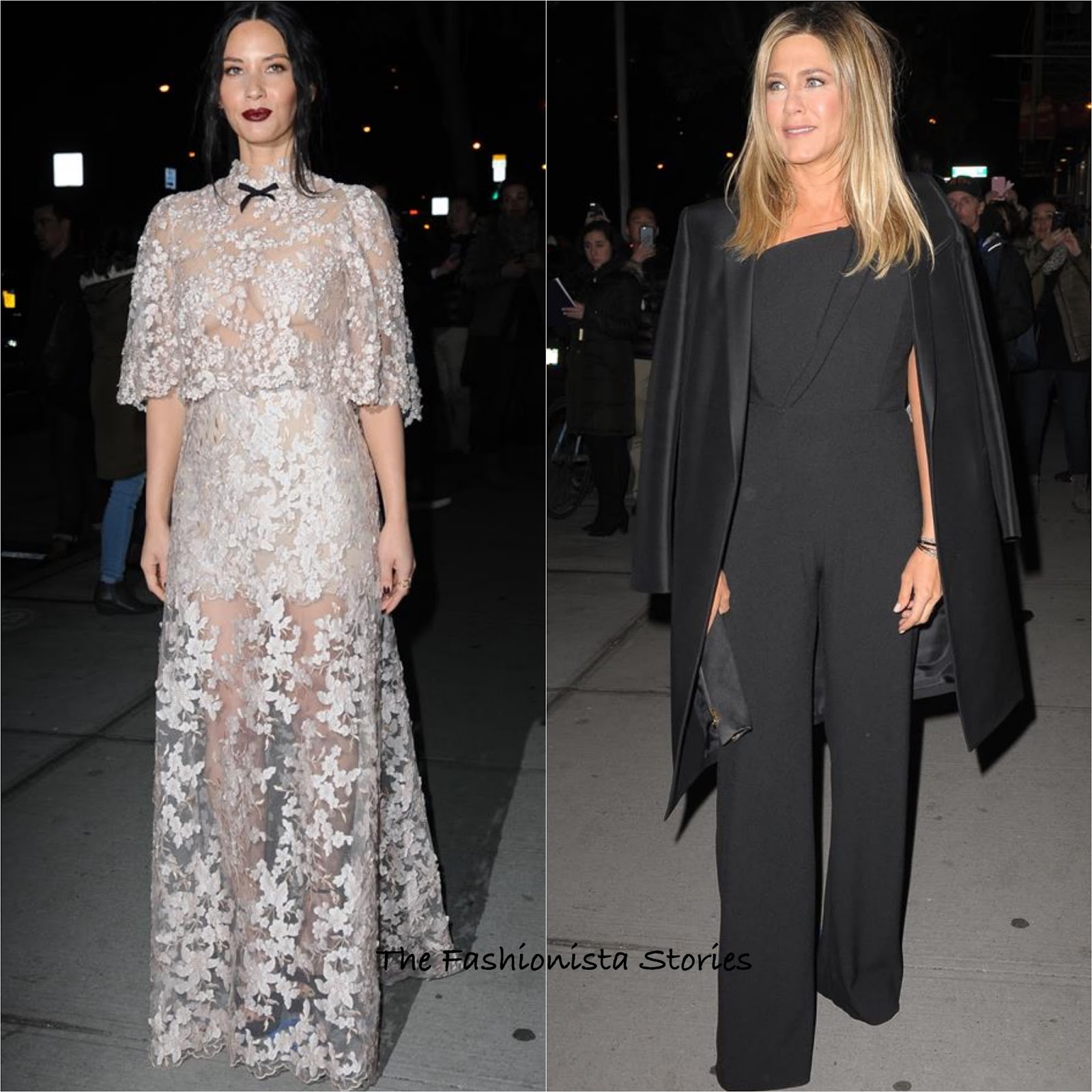 Olivia Munn & Jennifer Aniston at the \'Office Christmas Party\' NY ...