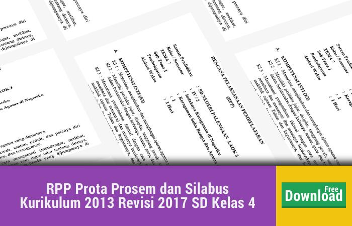 RPP Prota Prosem dan Silabus Kurikulum 2013 Revisi 2017 SD