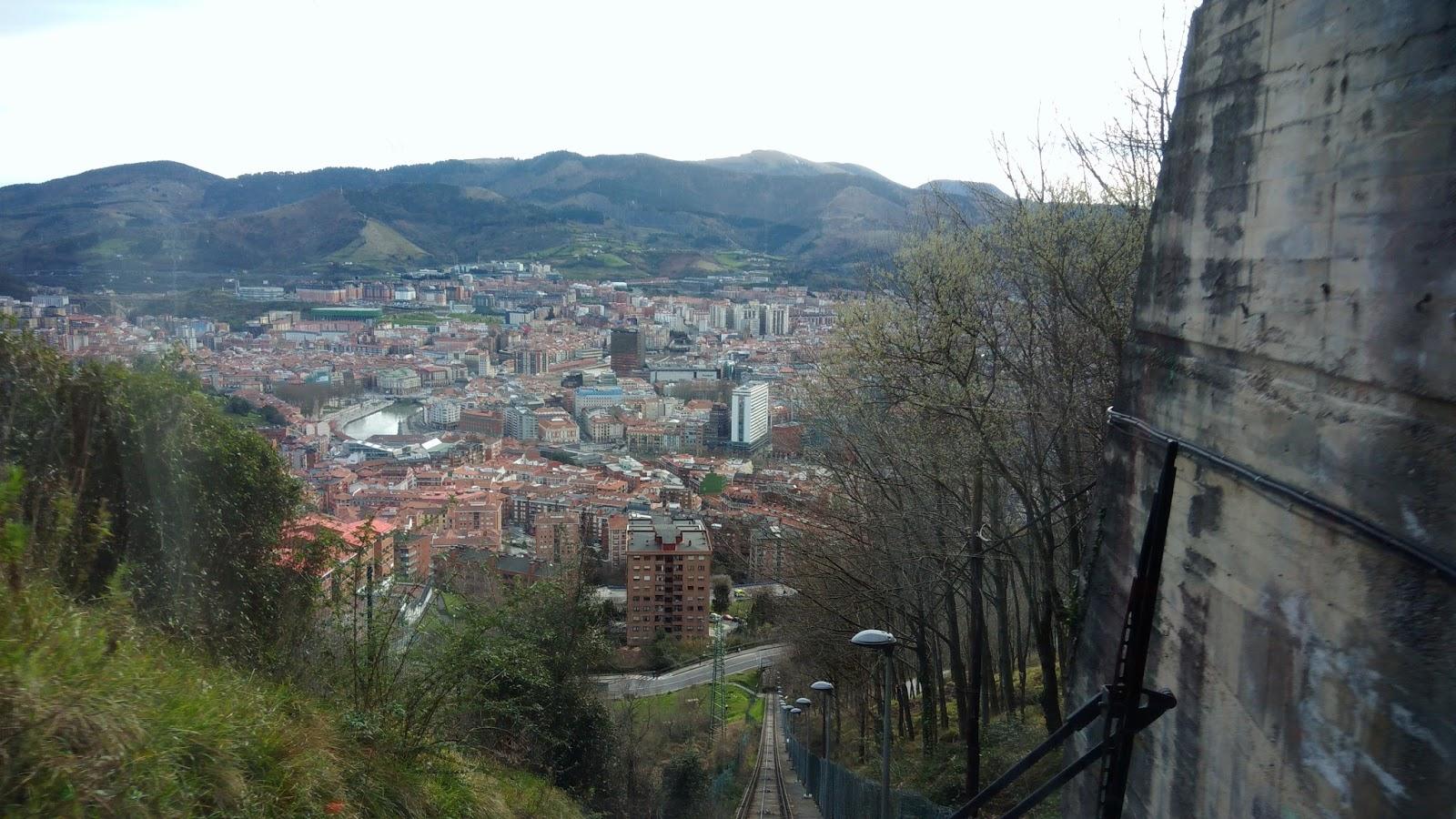 Wjazd na punkt widokowy w Bilbao