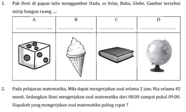 Free Download Soal Calistung Kelas 1 SD Tahap 1, 2, 3, 4