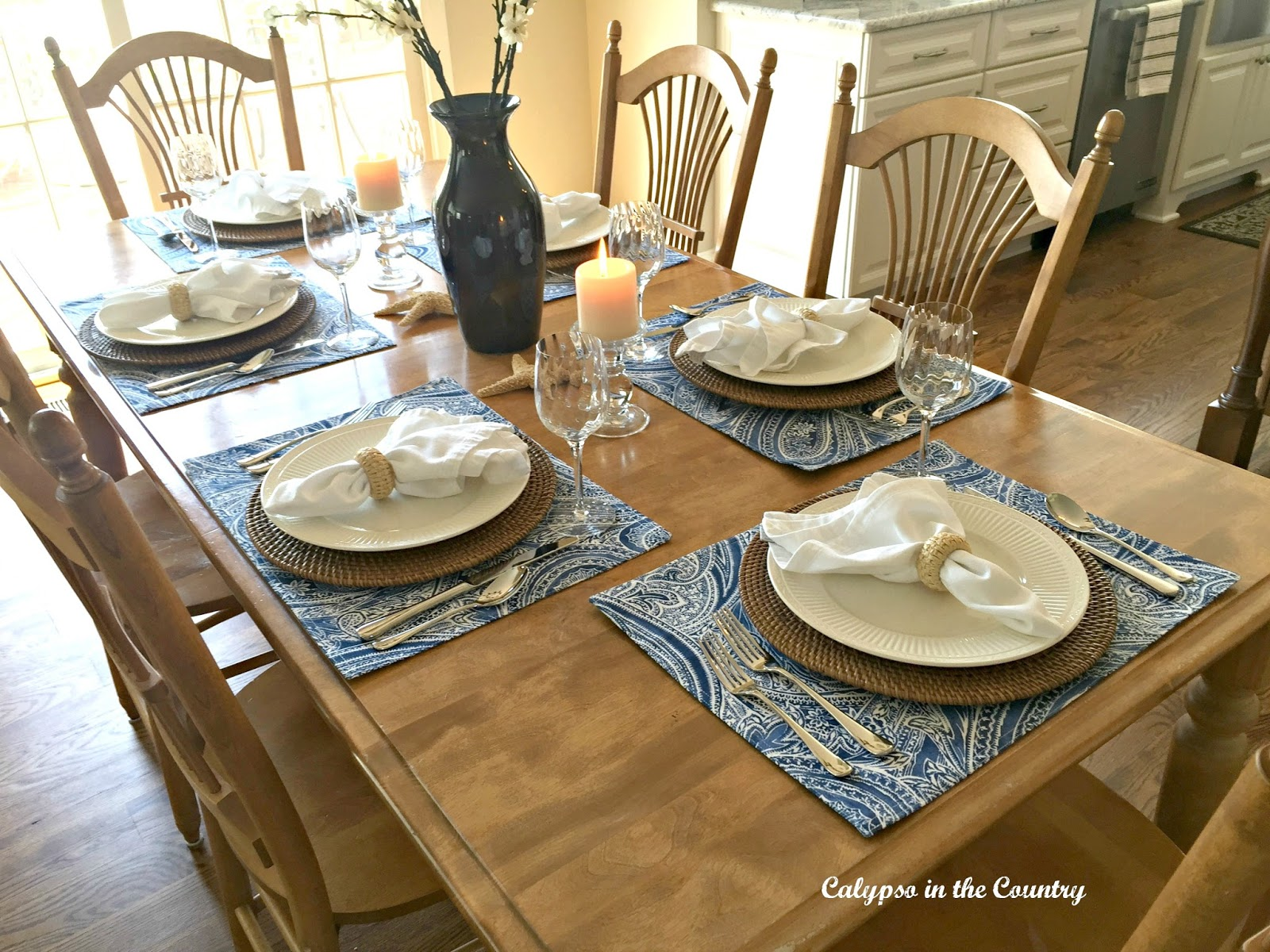 Summer Inspired Kitchen Table Setting | Calypso In The Country