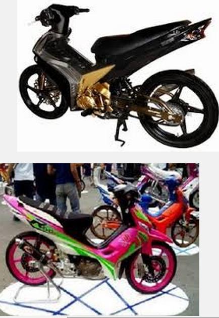 Modifikasi motor honda revo fit absolute 110 100cc road race keren terbaru 2014