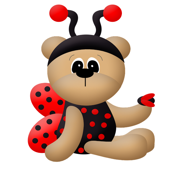ladybug dress bears clip art