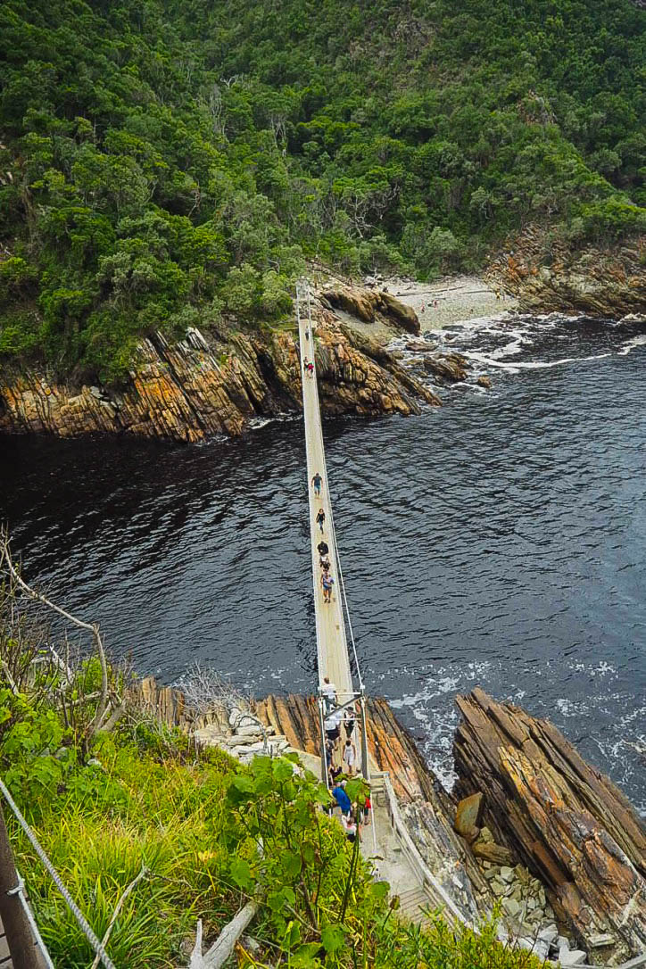 Storms River Mouth suspension bridge, Tsitsikamma National Park, South Africa