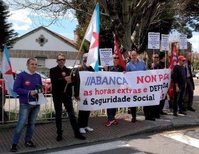 Mobilización da CIG contra a fraude das horas extras en Abanca