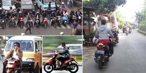8 'Kenakalan' Para Pengendara Motor di Indonesia