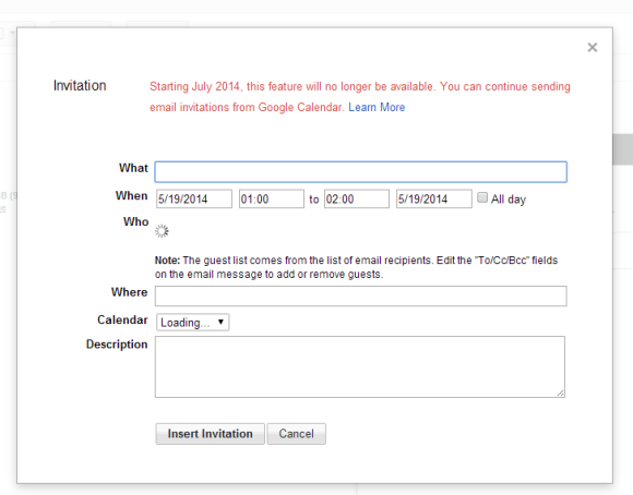 How To Create A New Calendar In Google Calendar Invite Google Calendar Help Center Google Support Google Operating System May 2014