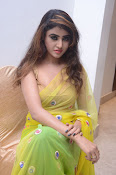 Sony Charista sizzling look in saree-thumbnail-4