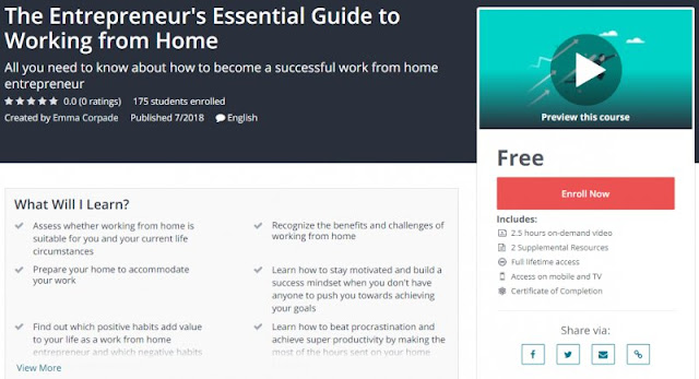 [100% Free] The Entrepreneur's Essential Guide to Working from Home