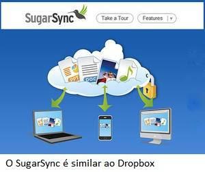 O SugarSync é similar ao Dropbox