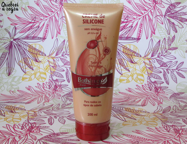 Creme de Silicone sem enxágue - Bothânico Hair