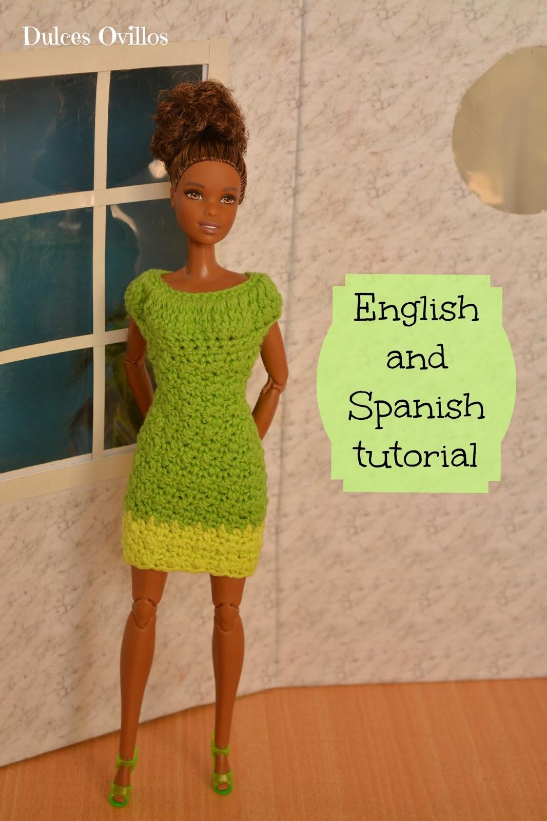 Dulces ovillos vestido a crochet para barbie crochet - Tuto dressing ...