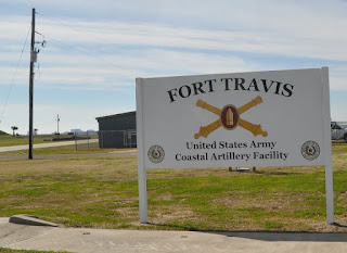 Old army base sign for fort travis