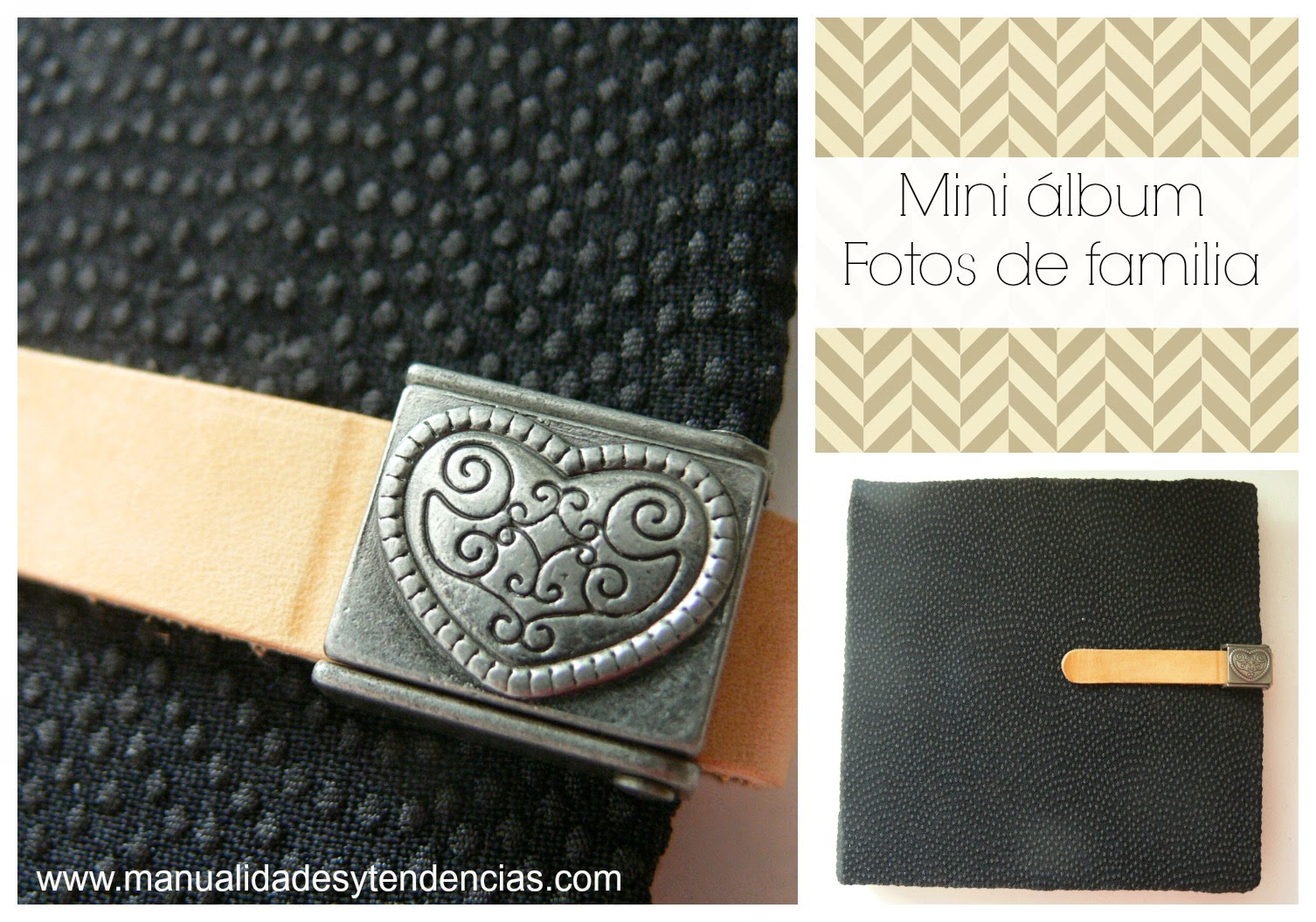 Portada mini álbum scrapbooking