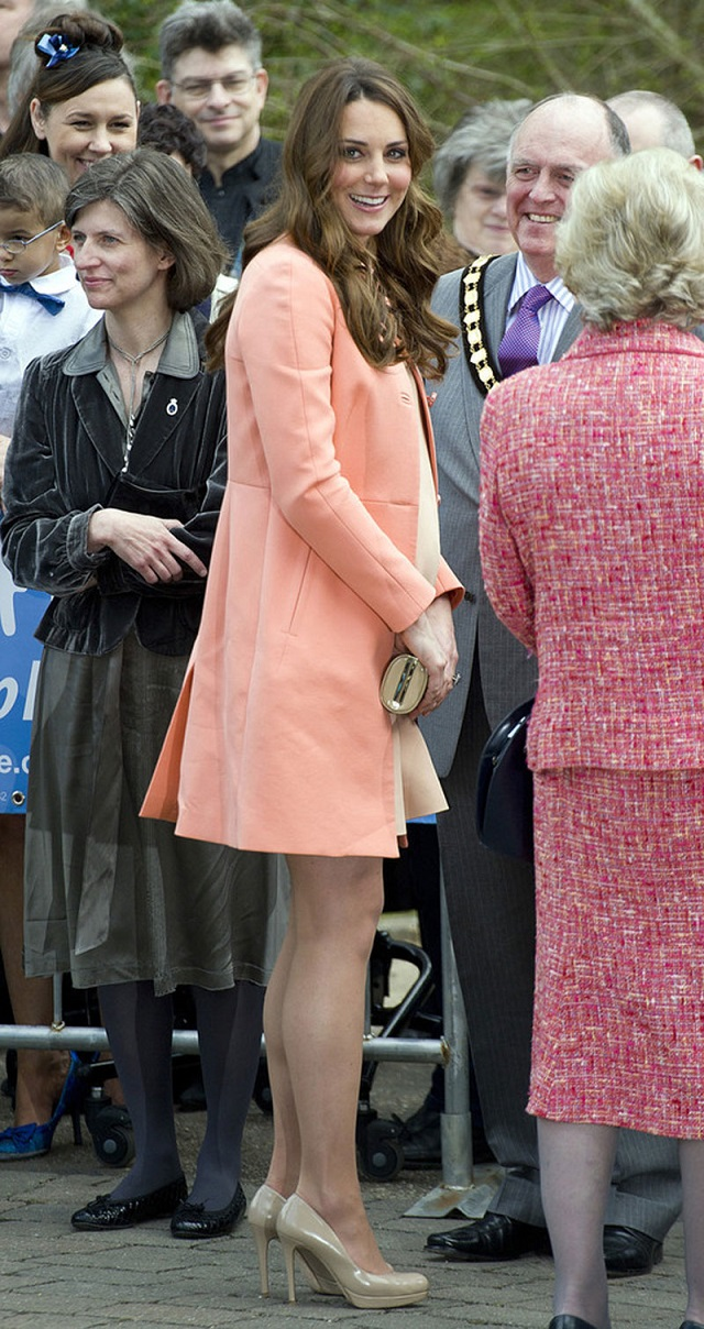 Pregnant Kate Middleton Visits a Children's Hospital in Hampshire