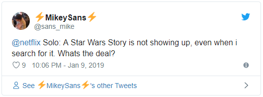 Why Is Solo A Star Wars Story So Hard to Find on Netflix