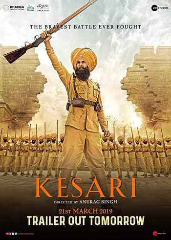KESARI 2019 ORG Hindi Movie BluRay 480p 400MB ESubs poster