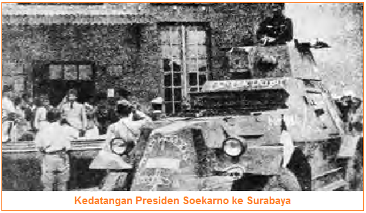 Kedatangan Presiden Soekarno ke Surabaya