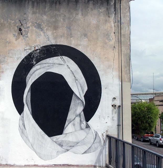 Street Art By JUFE in Queretaro Mexico For Board Dripper Urban Art Festival. 2