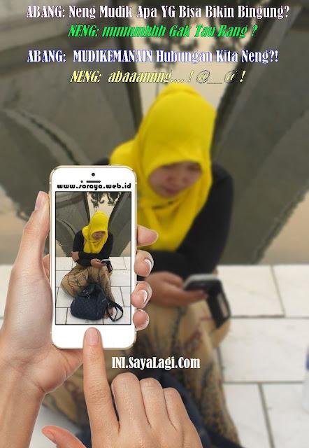 photo meme soraya lagi mau mudik ke kampung