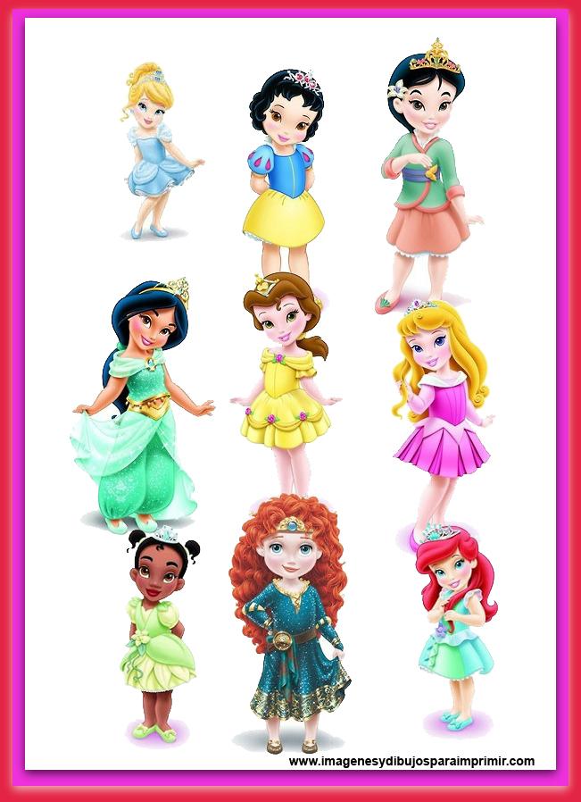 Laminas Princesas Disney Bebes Para Imprimir Imagenes Y