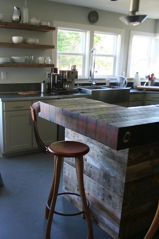 The Lucky Dumpster Barnboard Kitchen