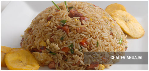 arroz chaufa con cecina