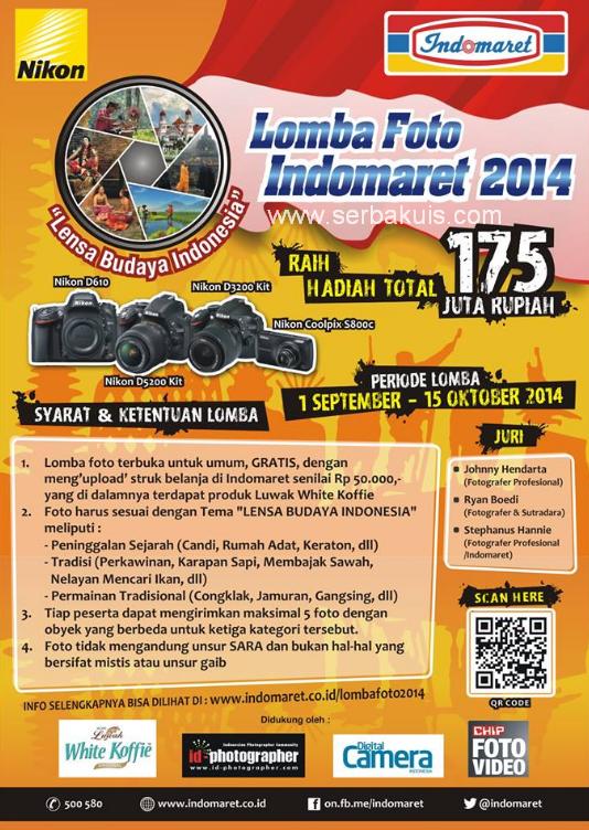 Kontes Foto Berhadiah Uang Total 69 JUTA + 15 Kamera