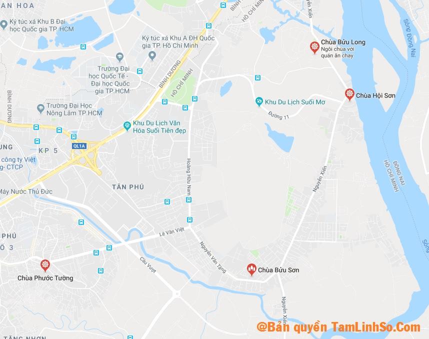 Ở Quận 9 có khá ít các ngôi chùa để bạn tìm kiếm