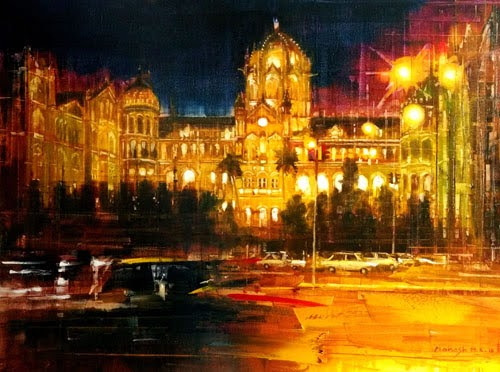 """pradarshak presents paintings by mahesh karambele"""