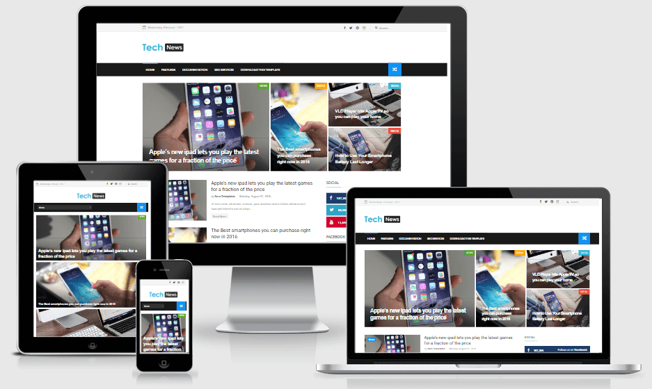 Tech News - Responsive Technology Blogger Template