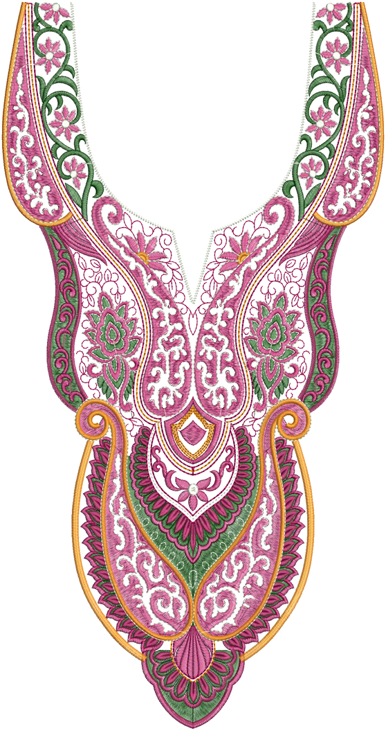 Embroidery designs dress nack