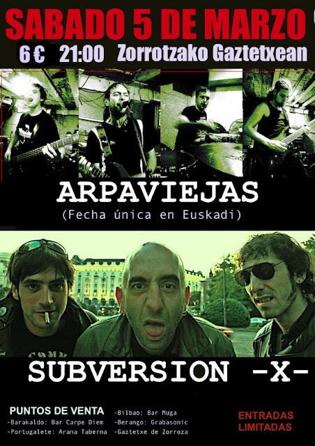 Concierto Bilbao 2016 Subversión X - Arpaviejas